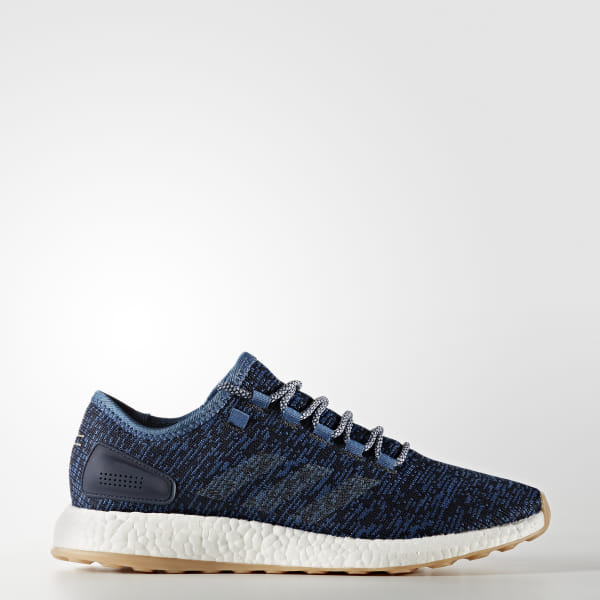 73317d9cd24 Pure Boost Shoes Core Blue   Linen   Night Navy BA8896