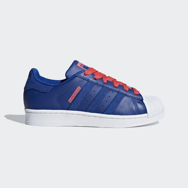 adidas superstars bleu