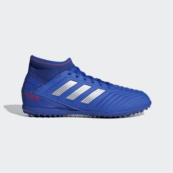 12a6fda37 Zapatilla de fútbol Predator Tango 19.3 moqueta Bold Blue / Silver Met. /  Active Red