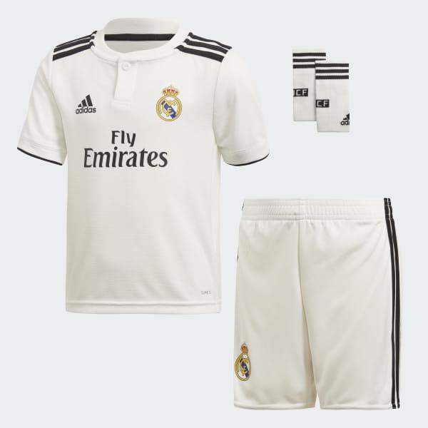 0e312b6ad0d89 Mini kit Real Madrid Domicile Core White   Black CG0538