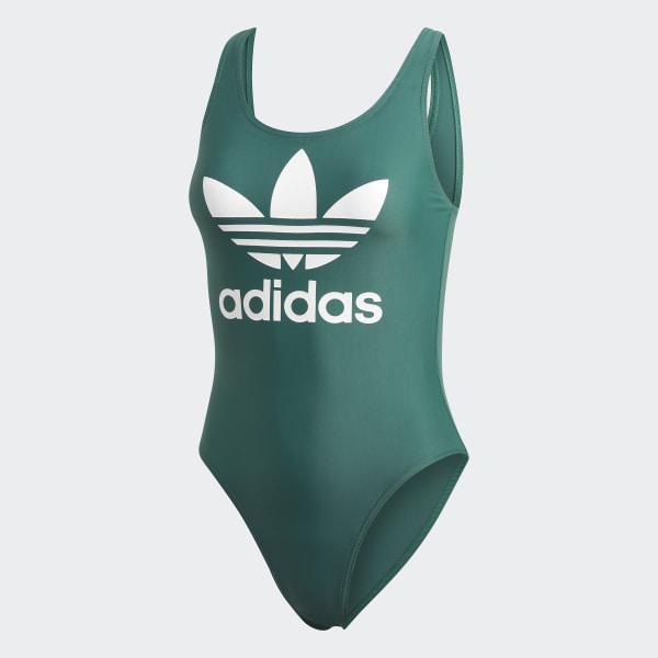 9b6d6d58d726 Costume da bagno Trefoil - Verde adidas   adidas Italia