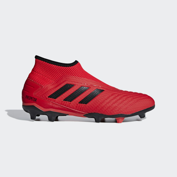 1db1e0509 Predator 19.3 Laceless Firm Ground Boots Active Red   Core Black   Core  Black F99730