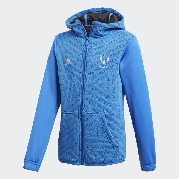 d837a7758f adidas Mikina s kapucňou Messi - modrá