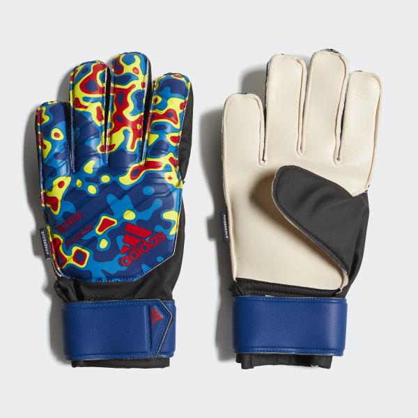 0e00f9a391f Predator Manuel Neuer Fingersave Goalkeeper Gloves Multicolor   Football  Blue   Active Red DN8604