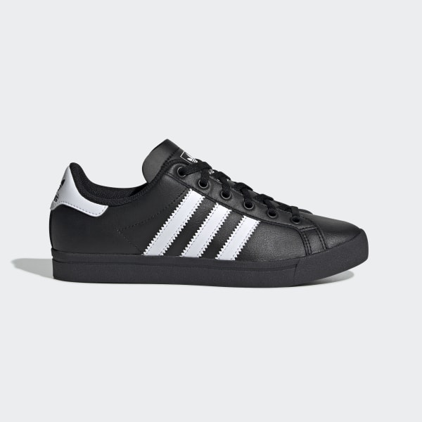 adidas black coast star trainers junior