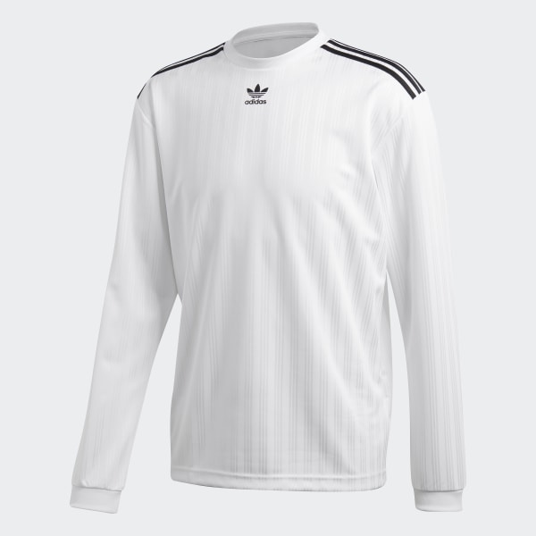 adidas Originals adicolor Long Sleeve Football Jersey In White CW1225