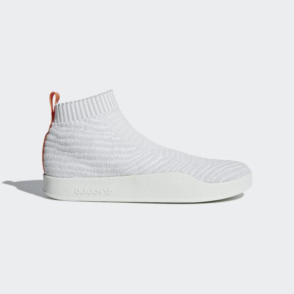 adidas originals adilette baskets d'été avec tige primeknit blanc cm8226