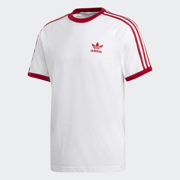 3-Stripes T-Shirt White / Power Red DY1533