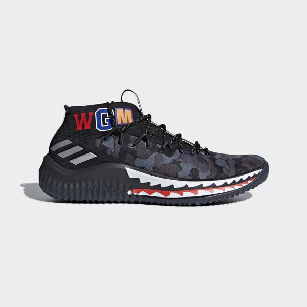 buy online 77674 aa9fb Dame 4 BAPE Shoes Pantone   Matte Silver   Core Black AP9975