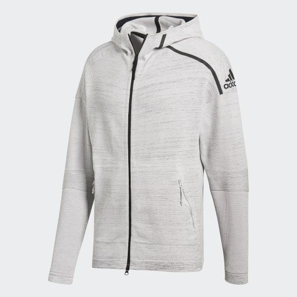 d2630c600f0 adidas Z.N.E. Primeknit Hoodie Grey / Chalk Pearl / Black CF0636