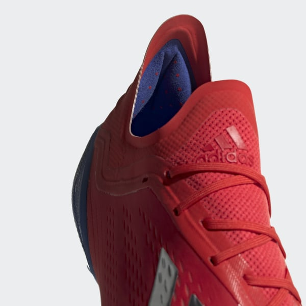 ac4902245cf0 X 18.1 Firm Ground Cleats Active Red / Silver Metallic / Bold Blue BB9347