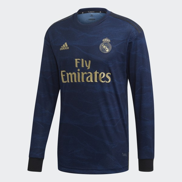 new photos e56dd 0d4b5 adidas Real Madrid Away Authentic Jersey - Blue | adidas UK