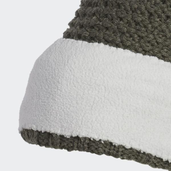 fdf3971d5 adidas Fleece Lined Pompom Beanie - Green | adidas Ireland