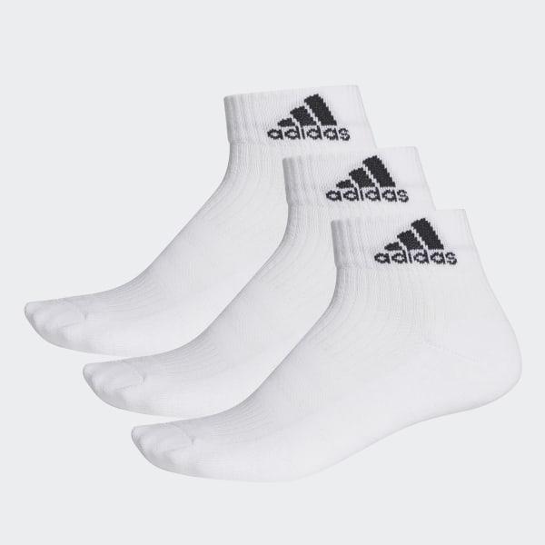 0523c5951 3-Stripes Performance Ankle Socks 3 Pairs White / Black / Black AA2285