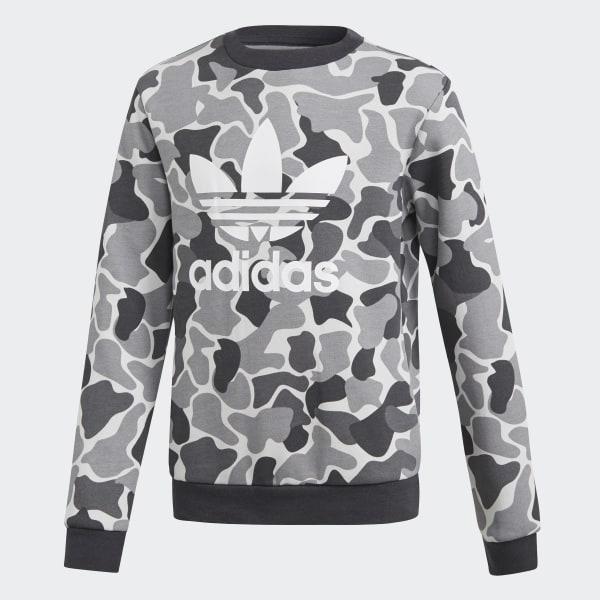 ca296672 adidas Camo Trefoil Crew Sweatshirt - Multicolor | adidas Canada