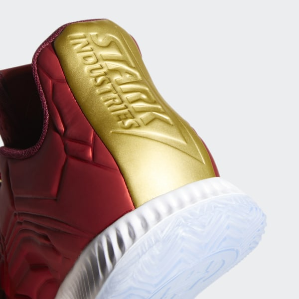 the best attitude a56f8 70e3c Marvel s Iron Man   Harden Vol 3 Shoes Scarlet   Collegiate Burgundy   Gold  Metallic EG2626