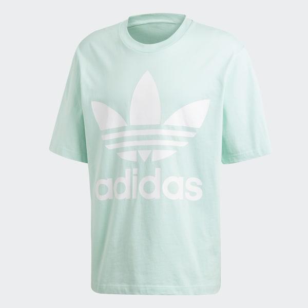 2020a0306 adidas Oversize Trefoil T-Shirt - Turquoise