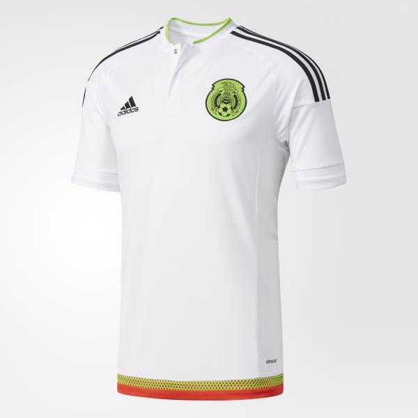 9369f41bc4c46 Camisa México 2 WHITE/BLACK/SEMI SOLAR GREEN/RED M36019
