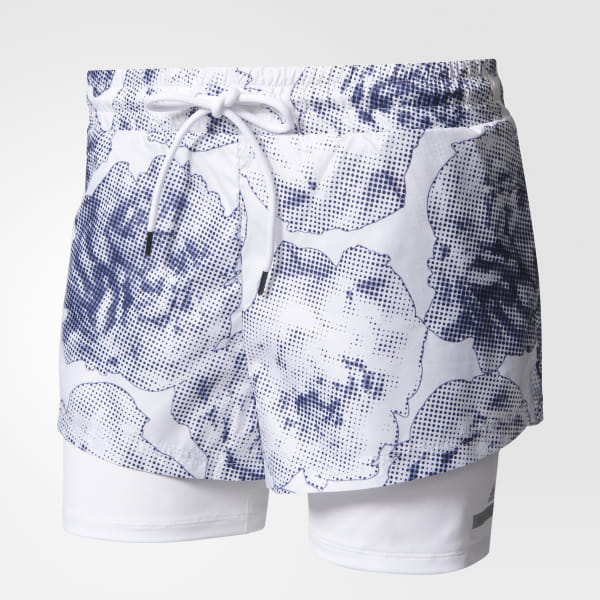 3b083cd9a7 adidas Run Floral Two-in-One Shorts - White | adidas US