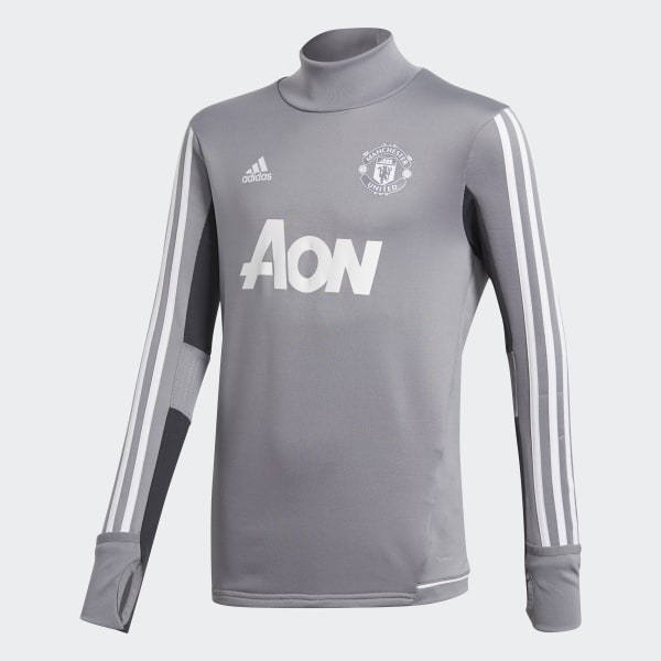 4959aca6151 Manchester United Training Top Grey   Light Solid Grey   White BS4480