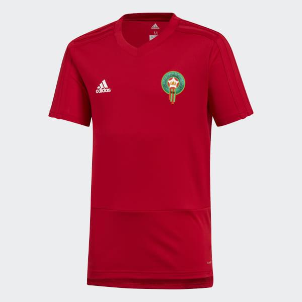 bbdc0a6e857af Maillot d'entraînement Maroc - rouge adidas | adidas France