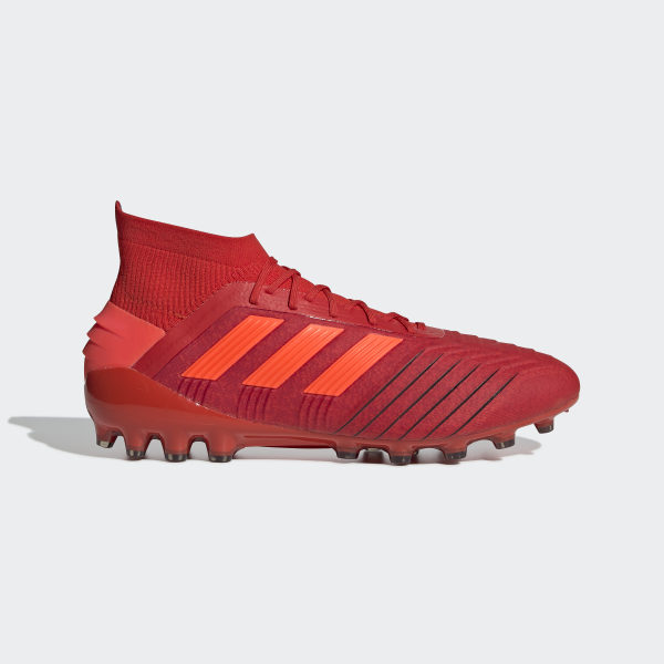 93cd15369 Predator 19.1 Artificial Grass Boots Active Red   Solar Red   Core Black  D98052
