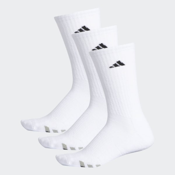 930792286875c Climalite Cushioned Crew Socks 3 Pairs White / Black / Granite H77456