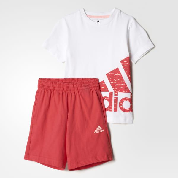 cf88ca9799d Conjunto deportivo para niñas TOP:WHITE/HAZE CORAL BOTTOM:CORE PINK BP9360