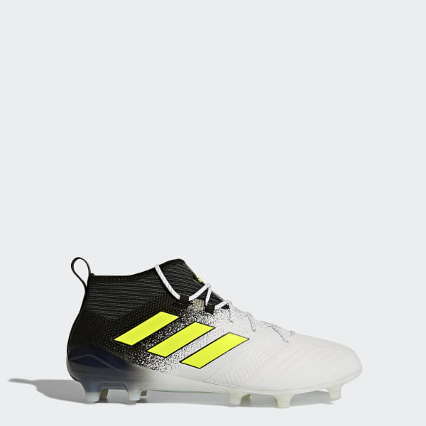 0de15a55d41 ACE 17.1 Firm Ground Boots Footwear White Solar Yellow Core Black S77035