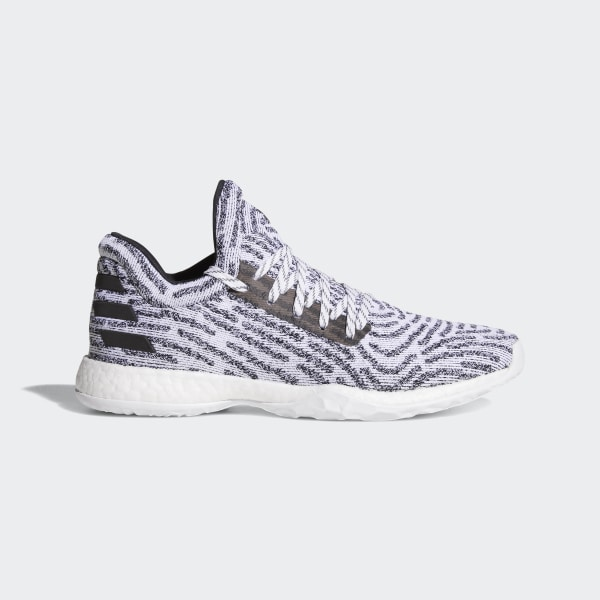 d4654a61d5fc Harden Vol. 1 LS Primeknit Shoes Grey   Ftwr White   Core Black   Grey