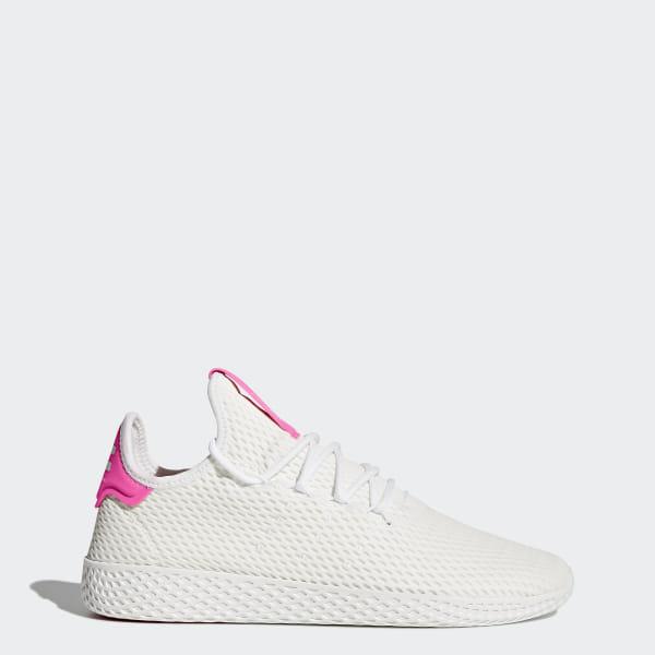 68244bc9b8e51 Pharrell Williams Tennis Hu Shoes Cloud White / Cloud White / Semi Solar  Pink BY8714
