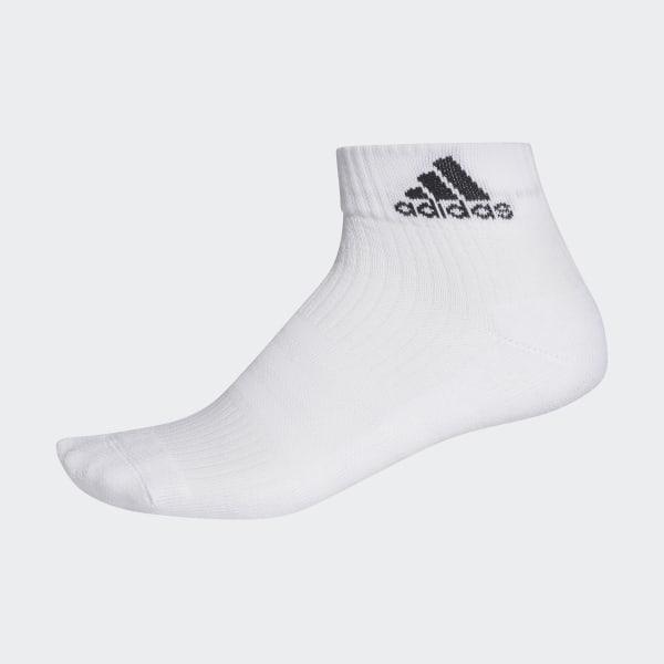 491ae4678 3-Stripes Performance Ankle Socks 1 Pair White / White / Black AA2291