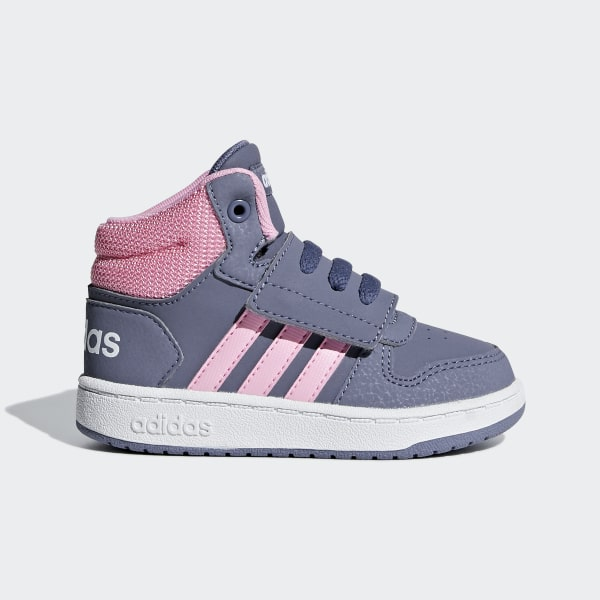 8cb500a4eb Hoops 2.0 Mid Shoes Raw Indigo / True Pink / Ftwr White F35832