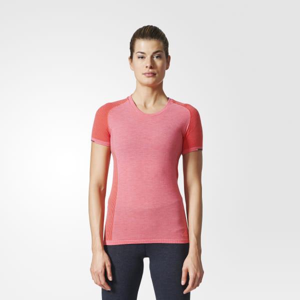 87e21b684c adidas Primeknit Wool Tee - Pink   adidas Belgium