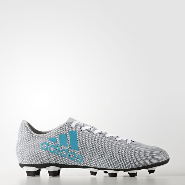 a7dc9c5e3 Zapatos de Fútbol X 17.4 Terreno Flexible FTWR WHITE ENERGY BLUE S17 CLEAR  GREY