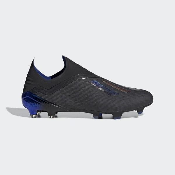 d159733cd X 18+ Firm Ground Boots Core Black / Core Black / Bold Blue BB9336