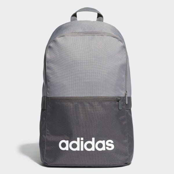 550270ddcbfff Linear Classic Daily Backpack Grey Four   Black   White DT8636