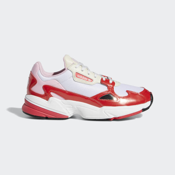 official photos c2d68 6f70e Falcon Shoes Crystal White   Active Red   Shock Red EE3830