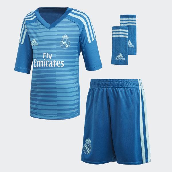 b1de3216 Real Madrid bortekeeperdrakt, mini Bold Aqua / Unity Blue CG0579