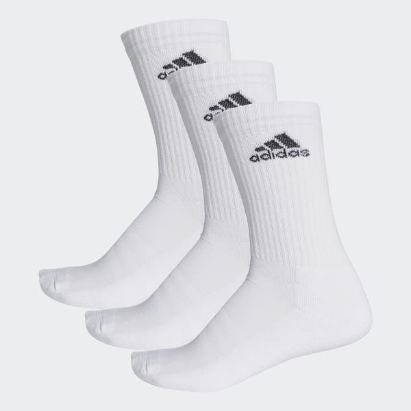 adidas 3-Streifen Performance Crew Socken - Weiß | adidas Deutschland