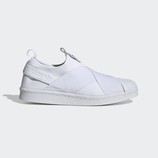 adidas superstar slip on hvid