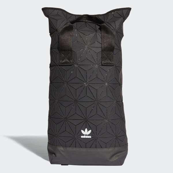 ad1f119991 adidas 3D Roll Top Backpack - Black | adidas UK