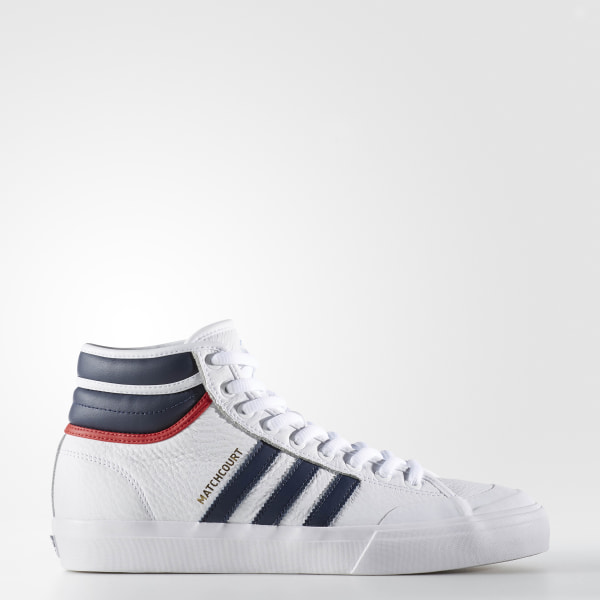 d113fe8f49 Matchcourt High RX2 Shoes Cloud White / Collegiate Navy / Scarlet BY4136