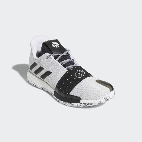3b4d7b322f3 Harden Vol. 3 Shoes Cloud White   Core Black   Light Solid Grey AQ0035
