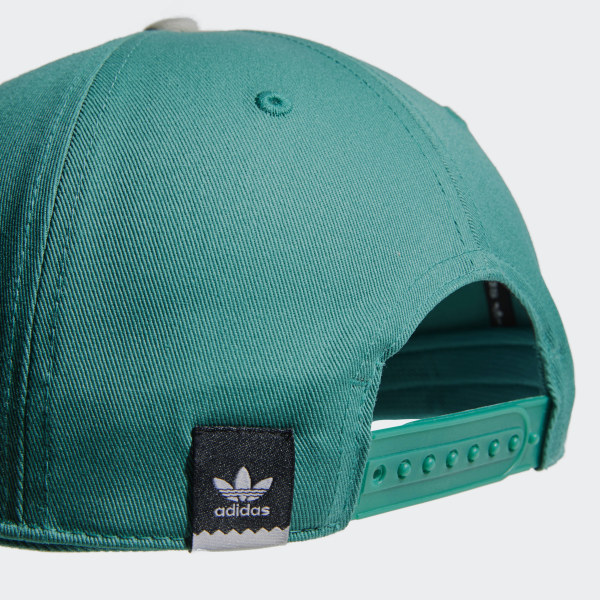 b563a786bf233 Two-Tone Trefoil Snapback Cap Active Green   Raw White DU8299
