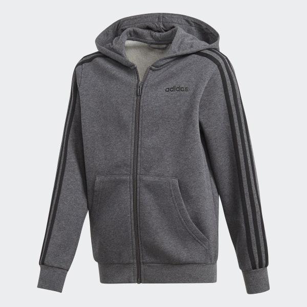 13c27ebd2 Veste à capuche à 3 bandes Essentials - Gris adidas | adidas France