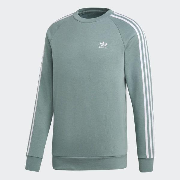 5e153c6ce0da9 adidas 3-Stripes Crewneck Sweatshirt - Green   adidas UK