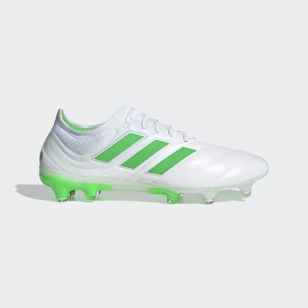 c3a3127a7 Copa 19.1 Firm Ground Boots Ftwr White   Solar Lime   Ftwr White BB9186