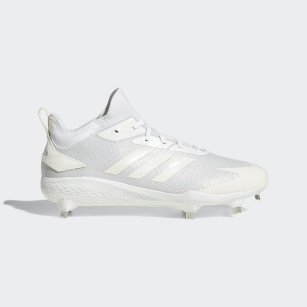 9754fb2964bf5 Adizero Afterburner V Dipped Cleats Cloud White   Running White   Silver  Metallic AQ0087