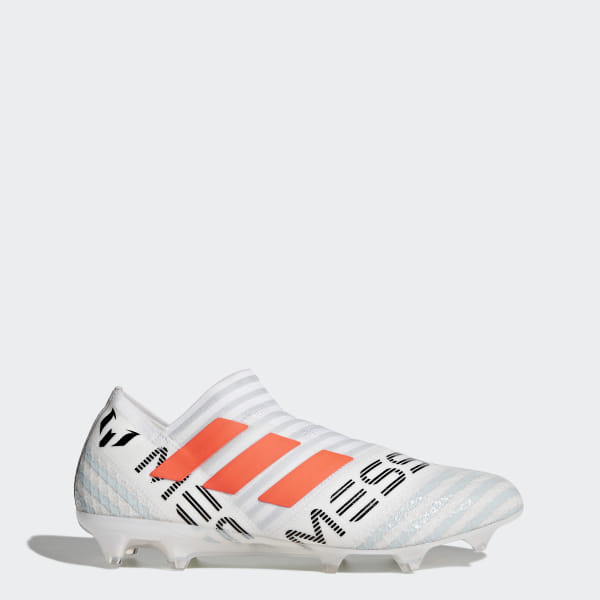 d8219cec Футбольные бутсы Nemeziz Messi 17+ 360 Agility FG ftwr white / solar orange  / clear